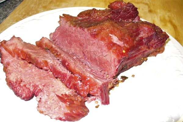 Braised corned beef photo by Carole Cancler