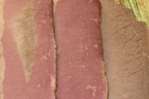 Corned beef under-cured, cured, uncured photo by Carole Cancler